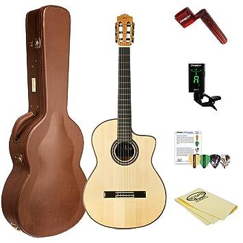 Cordoba GK Pro acústica eléctrica (cuerdas de nailon guitarra flamenco con humidificado Archtop carcasa, sintonizador, y accesorios, GK pro-kit-1: ...