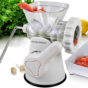 F&W Kitchen Basics 3 N 1 Manual Meat and Vegetable Grinder