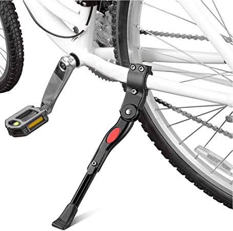 Mountain Bike Bicycle Cycle Kick Stand Adjustable Rubber Prop Foot Heavy UK C8S5