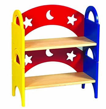 Guidecraft Moon Stars Stacking Bookshelf Set Of