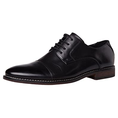 c5edf34427 J's.ole Men's Leather Lined Formal Oxford Cap Toe Lace Up Dress Shoes