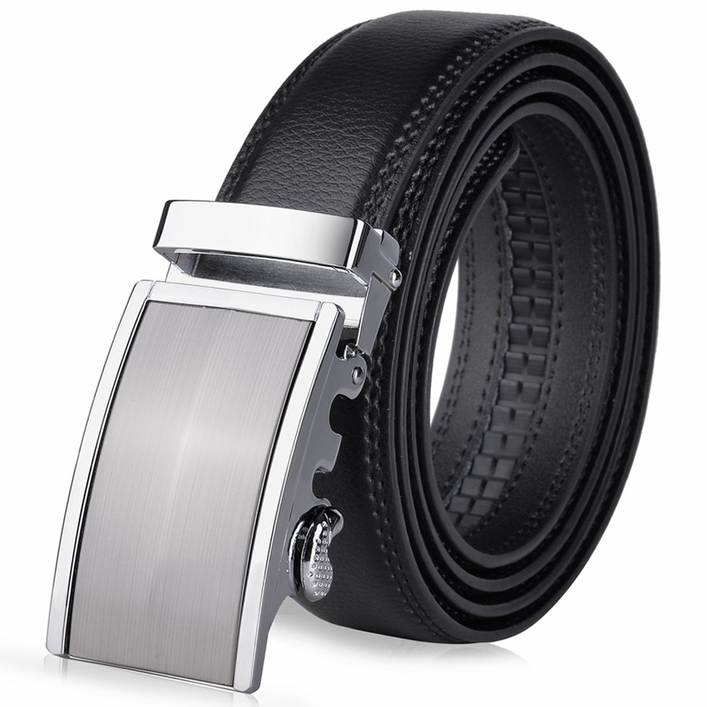 Vbiger Mens Belts Leather Waist Belt with Automatic Buckle 1.5