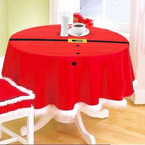 Resultado de imagen para mantel navidad mesa redonda