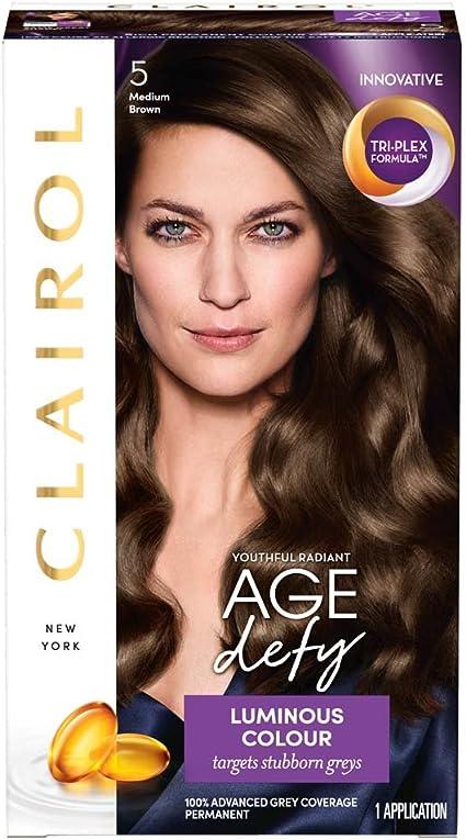 Clairol Age Defy Tinte permanente para el cabello 5 marrón medio