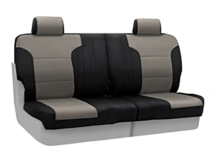 Super Coverking Custom Fit Rear 50 50 Split Bench Seat Cover For Select Toyota 4Runner Models Neosupreme Charcoal With Black Sides Caraccident5 Cool Chair Designs And Ideas Caraccident5Info