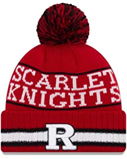 New Era Rutgers Scarlet Knights College Vintage Select Knit Pom Beanie -  Red e9a952640a99