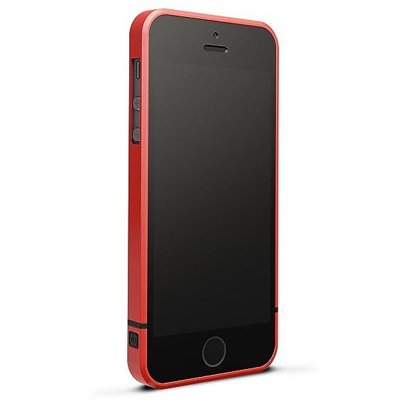 06afb535768 designed by many Diseñado por m Al13v2 Aluminio Parachoques Carcasa sin  pérdida de señal para iPhone 5/5S, Rojo: Amazon.com.mx: Electrónicos