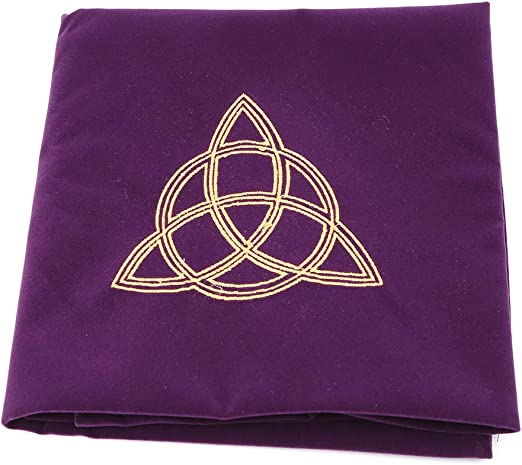 JIACUO 80 × 80cm Terciopelo Tarot Mantel Altar Wicca Pentáculo Sol Bordado Juego de Mesa Púrpura: Amazon.es: Hogar