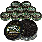 Smokey Mountain Herbal Snuff - Wintergreen - 10 Can Box - no Nicotine - no Tobacco - Great Tasting and Refreshing Chewing Alternative
