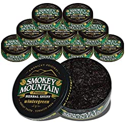 Smokey Mountain Wintergreen Snuff, 10 Ca...
