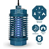 Electric Bug Zapper, multifun Electronic Insect & Fly Killer, Indoor Mosquito Killer with Built-in UV Light Trap, Non-Toxic Safe Mosquito Zapper for Indoor Home Porch Patio Backyard Warehouse