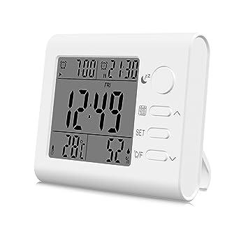 ANOLE Termómetro Digital Higrómetro Humedad Sensor Temperatura Habitación Termo-Higrómetro Medidor Humedad Calibre Termómetros Monitor