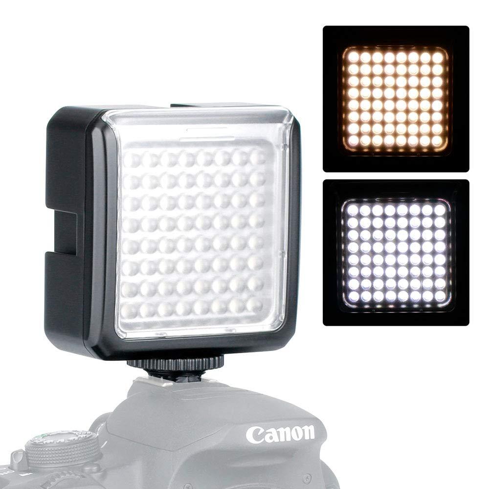 Panel de luz de video de 64 luces led Luz de video en la ...