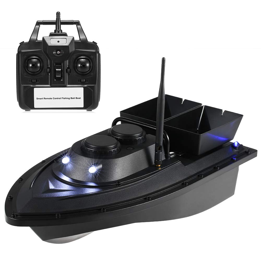 Godyluck Smart Fishing Bait Boat Wireless Remote Control Fishing Feeder Toy RC Fishing Boat for Adults Beginners 500M Remote Range by Godyluck