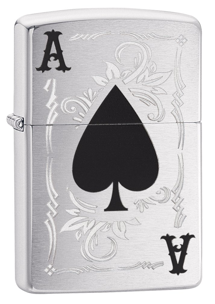 Zippo Lighter: Ace of Spades - Brushed Chrome 79191 by Zippo