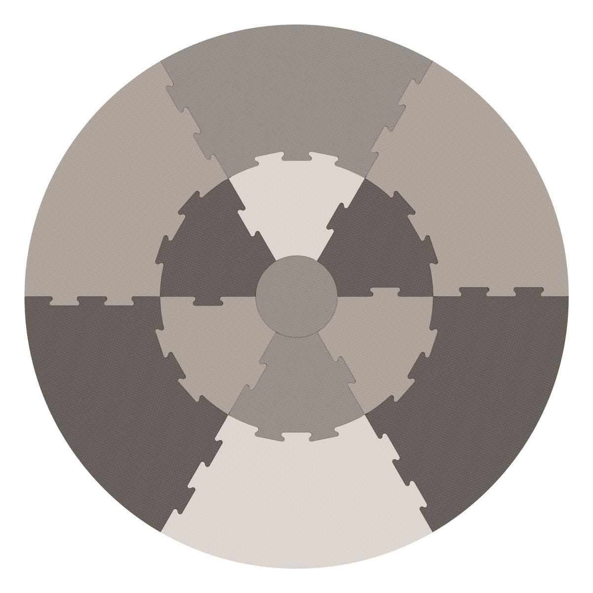 Sebra spielmatte cálida gris para gatear, parte techo Gateo Alfombrilla Puzzle Rompecabezas de diámetro 122 cm NUEVO