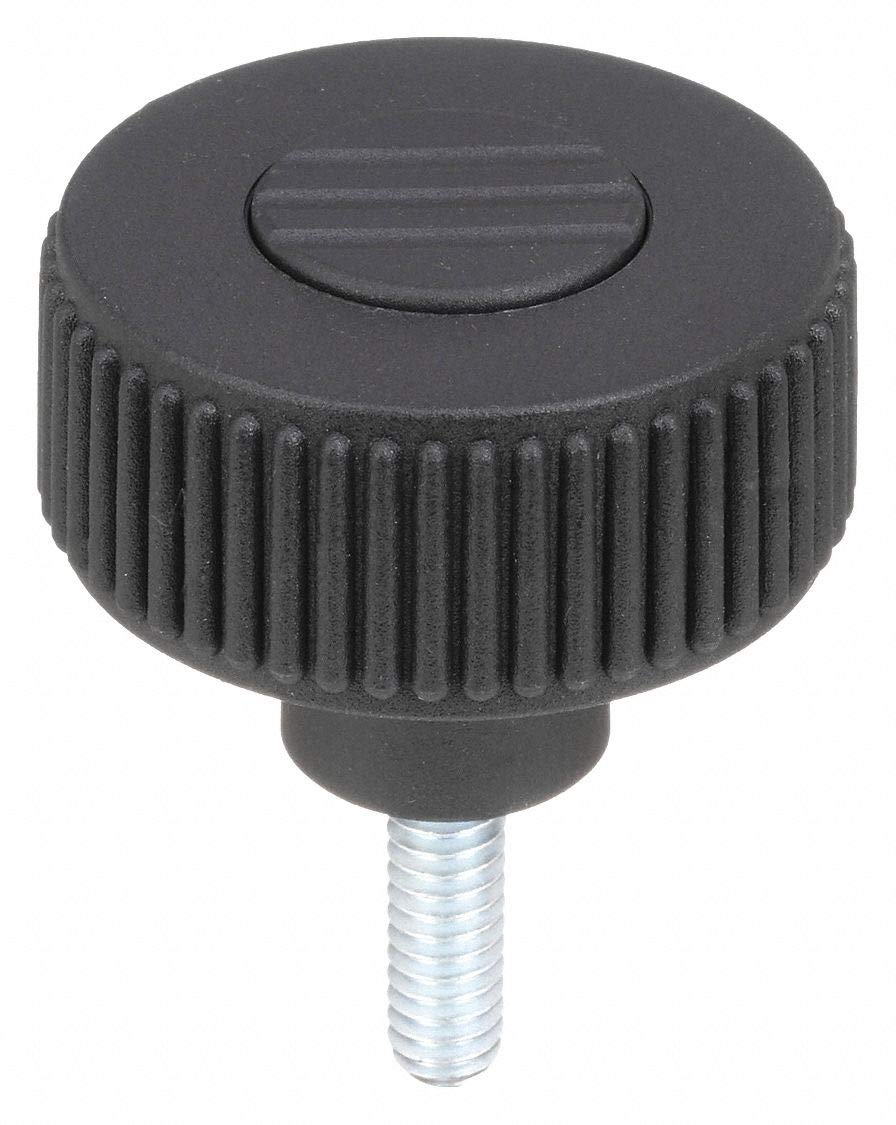 20 mm Screw Length 51 mm Height Size 1 Style L Pack of 10 Anthracite Grey Kipp 06266-51A1X20 Thermoplastic Novo-Grip Knurled Wheel 10-32 External Thread 40 mm Diameter Inch Bolt Steel