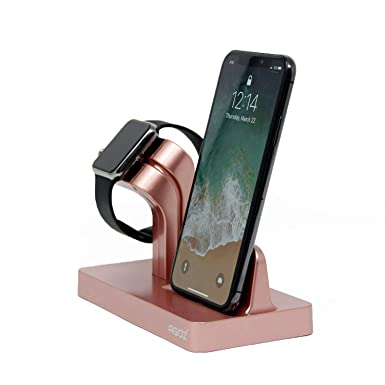 Amazon.com: Agoz Apple Watch iPhone 2in1 Stand Charging Station Charger Dock Station for Apple Watch Series 4 3/2/1/Nike+,iPhone Xs MAX/XR/X / 8/8 Plus ...