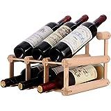 W28 選べるサイズ 組立式 ワインラック 木製 ホルダー ワイン シャンパン ボトル 収納 ケース スタンド インテリア (6本収納)