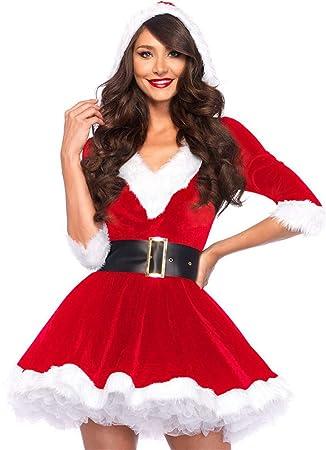 ShiyiUP Disfraces de Papá Noel para Navidad Traje de Cosplay para Adultos (M, Vestido)