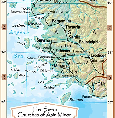 Coolowlmaps Early Spread Of Christianity And The Seven Churches Of