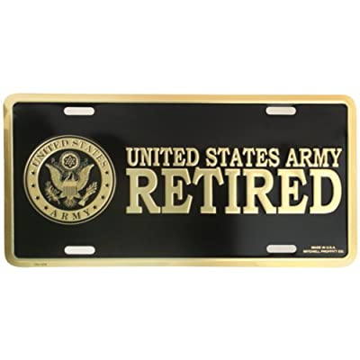 Honor Country US Army Retired License Plate: Automotive