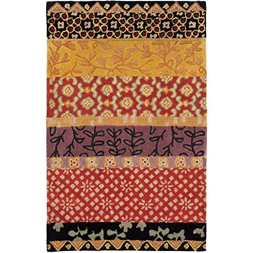 (Safavieh Rodeo Drive Collection RD622K Handmade Rust and Gold Wool Area Rug (3'6