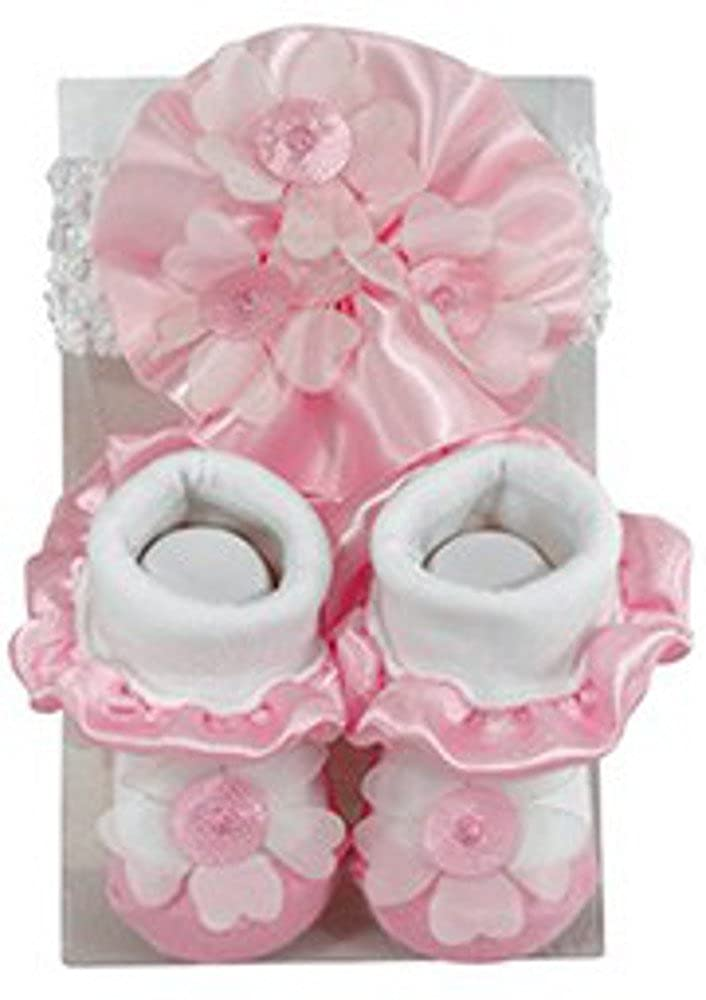 Stephan Baby Baby Girls Daisy Lace Headband /& Sock Set 6-12 months