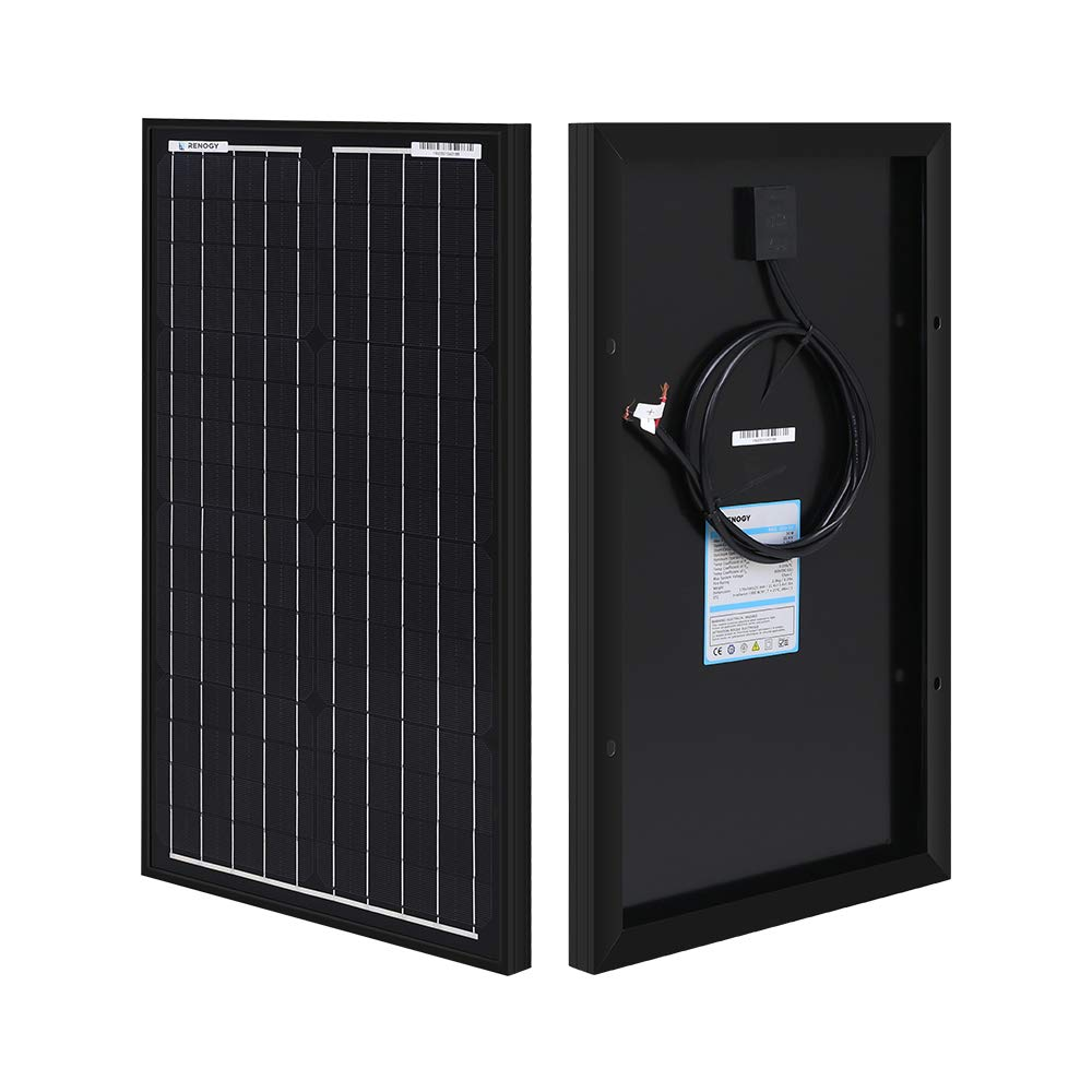 Renogy 30 Watt 12 Volt Monocrystalline Solar Panel for Battery Charging, Boat, Caravan, RV and Any Other Off Grid Applications, Compact Design by Renogy