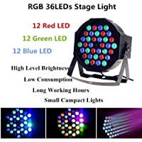 Lightess Par Lights 36LED Stage Light RGB Effect Lighting Sound Activated Stand Lamp with DMX512