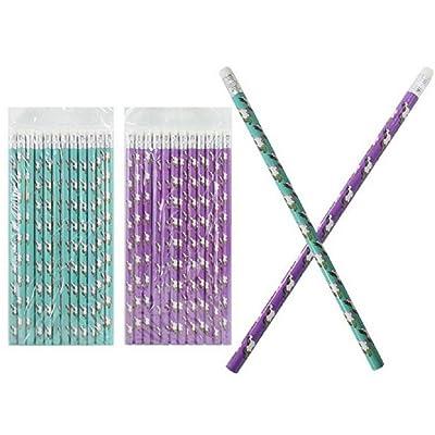 12 Crayons à Papier Licorne - Cadeau kermesse et anniversaire