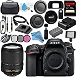Nikon D7500 DSLR Camera (Body Only) 1581 AF-S DX 18-140mm f/3.5-5.6G ED VR Lens 2213 + 67mm 3 Piece Filter Kit + 256GB SDXC Card + Professional 160 LED Video Light Studio Series Bundle