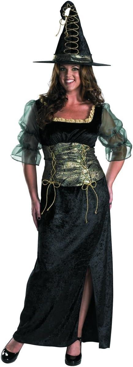Ellie Shoes Disfraz de Bruja de Esmeralda para Adultos, Talla XL ...