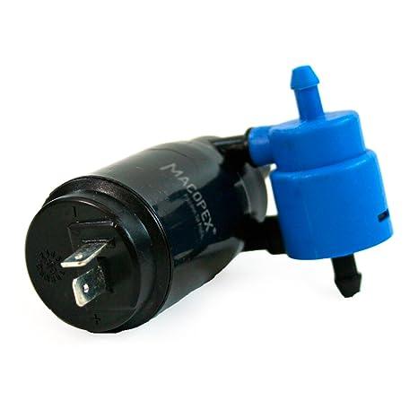 mit Waschanlage f/ür Heckscheibe 1K6955651 Pumpe Scheibenwaschanlage vorn Wasserpumpe Scheibenreinigung