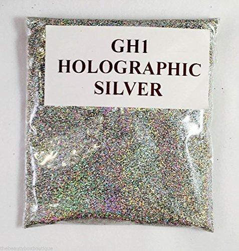 (GH1 - HOLOGRAPHIC SILVER 100g) GLITTER NAIL ART COSMETIC CRAFT FLORIST WINE GLASS GLITTER TATTOO
