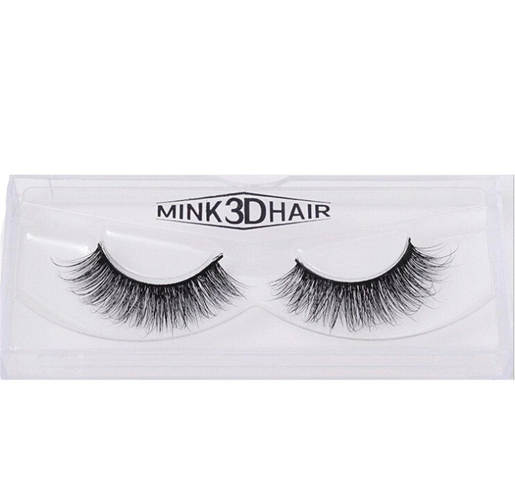 HENGSONG 3D Artificial Hair False Eyelashes Natural Thick Eye Lashes Makeup Extension (E) mei_mei9