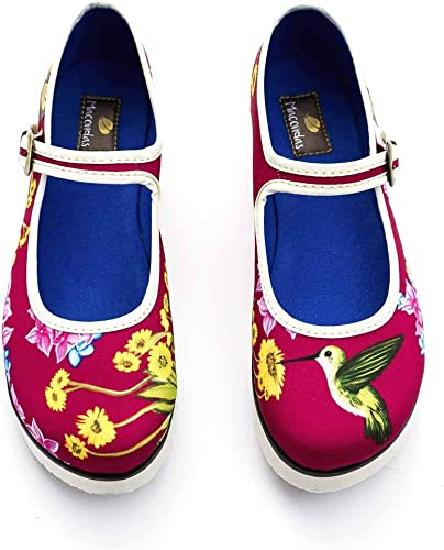 Macondas Tranvia Printed Canvas Walking Shoe