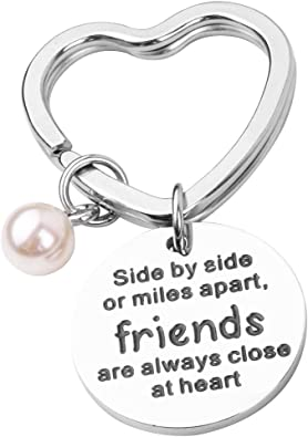 Best Friend Bangle Bracelets Long Distance Friendship Gifts 2019 Sister Jewelry Side by Side Or Miles Apart Best Friends are Close at Heart