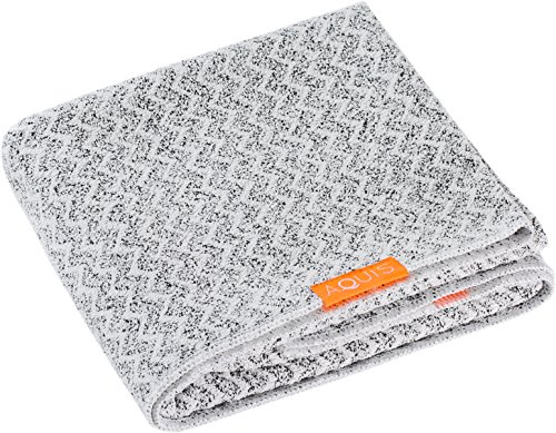 Aquis Lisse Luxe Hair Towel Chevron 19x42in.