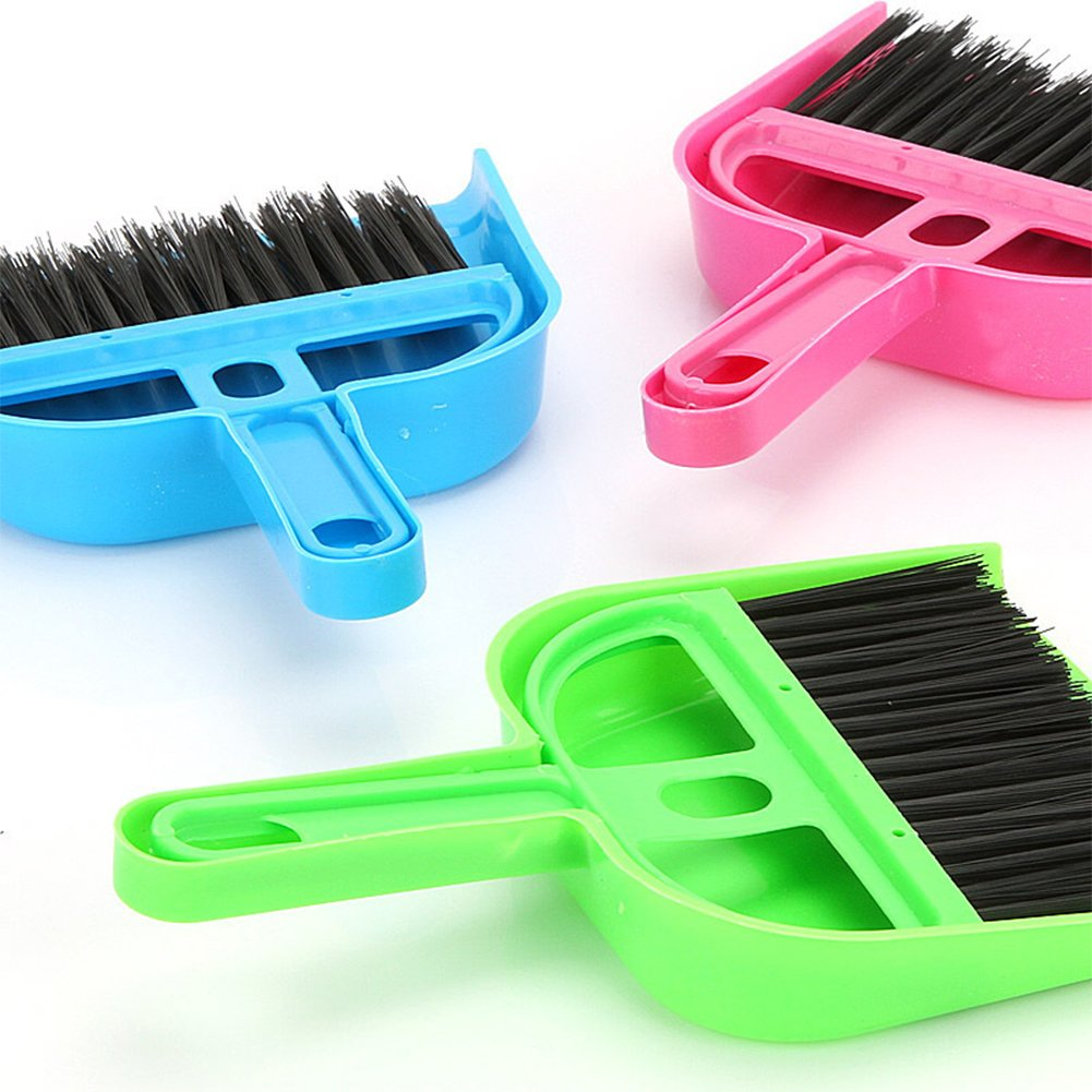 ETbotu Cleaning Set Telescoping Broom and Dustpan with Hand Broom Seal Technology
