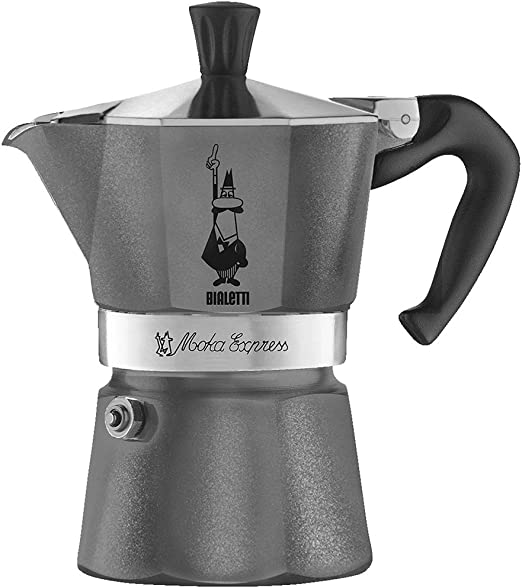 Amazon.com: Bialetti - Cafetera espresso, gris: Kitchen & Dining