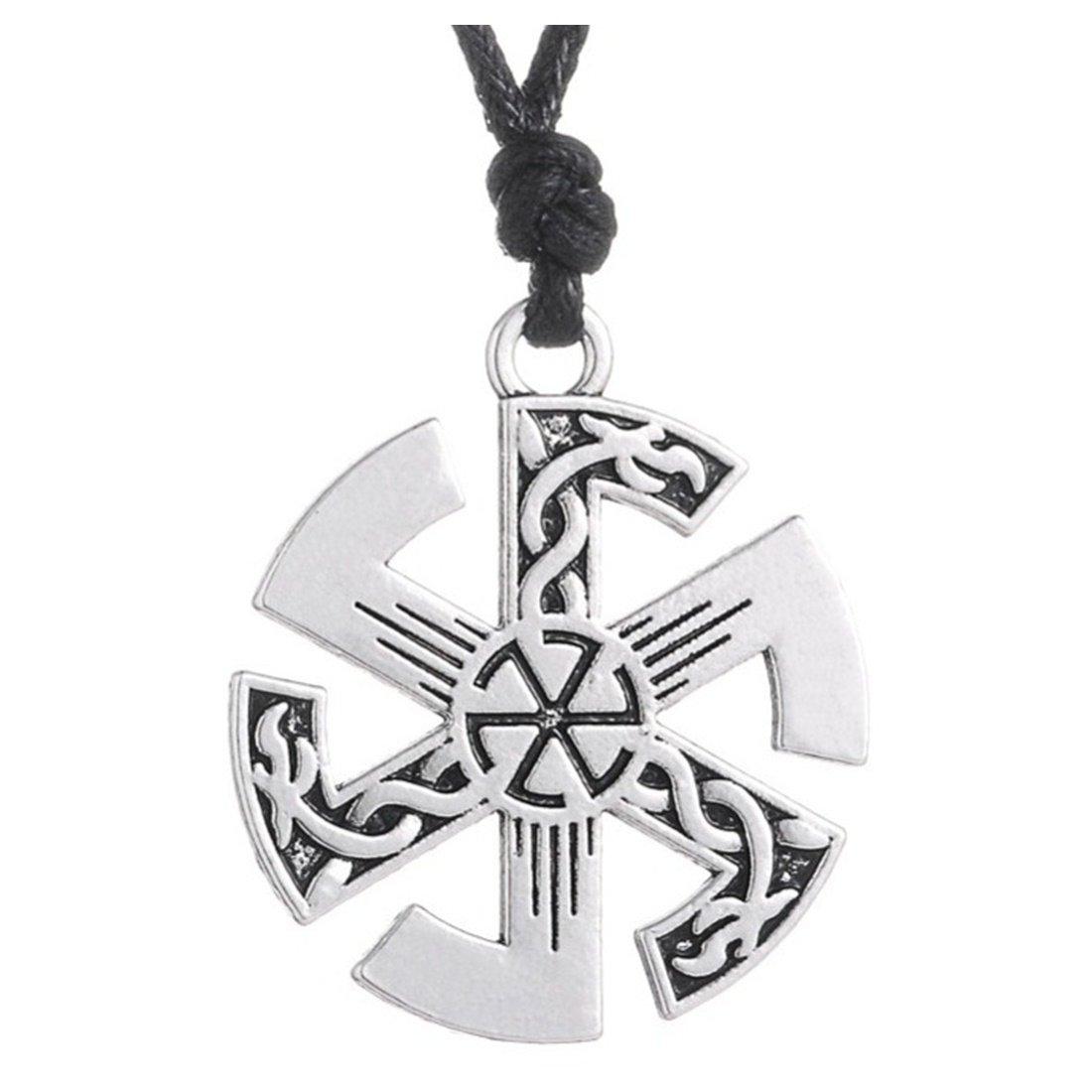 Kolovrat Slavic talisman Pendant Sun Necklace Bayan Kolye Ethnic Jewelry