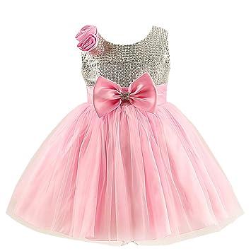 Vestido rosa nina fiesta