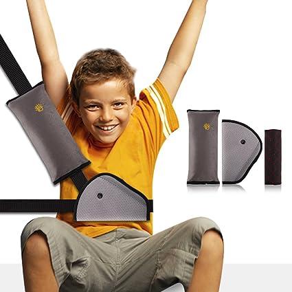 Oreiller Amovible/&Voiture Ceinture de S/écurit/é Coussinets dEpaule de Voiture Adaptateur Ceinture Securite Enfant Coussin Support de Cou Amovible Auto Voiture Lot de 3