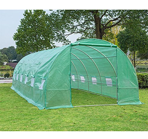 Outsunny 26' x 10' x 7' Portable Walk-in Garden Greenhouse - Deep Green by Outsunny (Image #2)