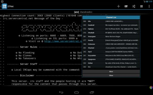 Android IRC - Internet Chat