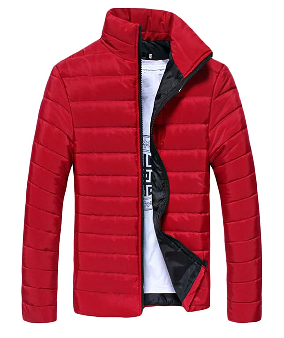 MK988 Mens Lightweight Stand Collar Quilted Jacket Coat Outwear