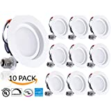 SUNCO 10 PACK- 11W 4-inch ENERGY STAR UL-listed Dimmable LED Downlight Retrofit Recessed Lighting Fixture -4000K Cool White LED Ceiling Light --660LM, Title 24, ROHS, 5 Year Warranty