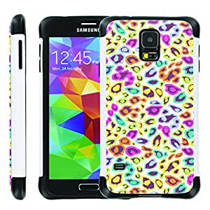 [ManiaGear] SLIM Rugged Hybrid Image Protector Cover (Color Lepord) for Samsung Galaxy S5