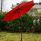 SNAIL 9 foot Outdoor Umbrella Porch Sun Shade Pool Deck Table Umbrellas, Burgundy